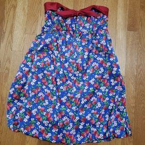 Betsey Johnson silky strawberry dress size 8